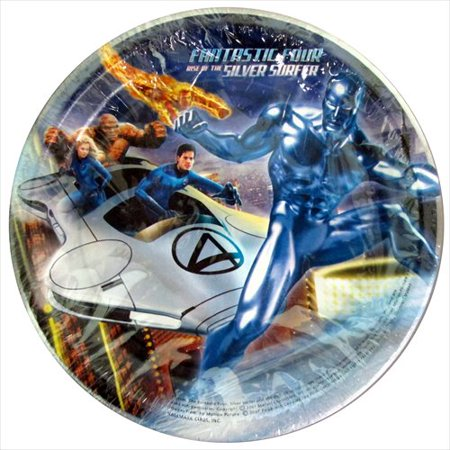 Fantastic Four 'Rise of the Silver Surfer' Small Paper Plates (8ct) - Surfer Supplies