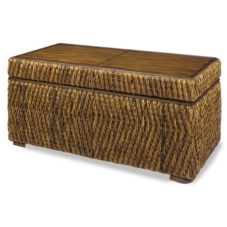 rectangular woven storage cocktail table. Black Bedroom Furniture Sets. Home Design Ideas