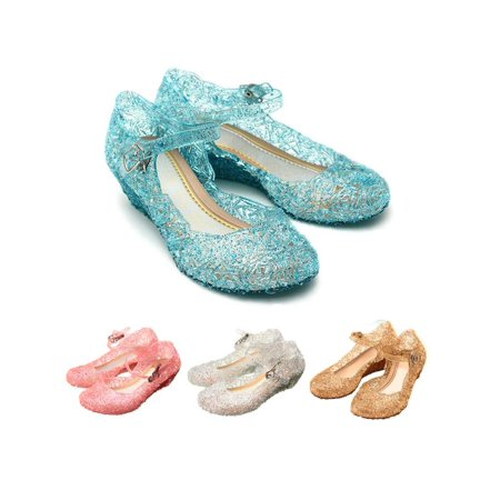 Kids Girls Fancy Crystal Frozen For Anna&Elsa Cosplay Party Sandals Shoes