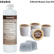Keurig 3 month Brewer Maintenance Kit, Includes 4 Keurig Rinse Pods, 1 Descale Solution, and 2 Water Filter Cartridge Refills