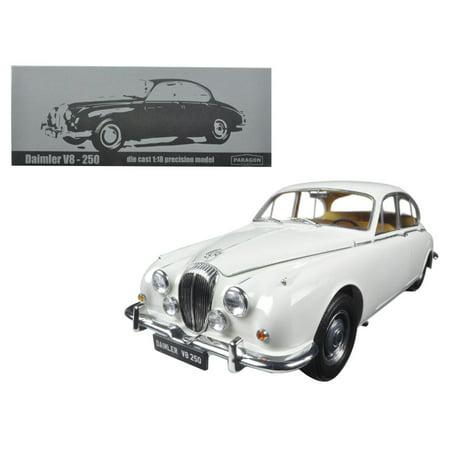 1967 Daimler V8-250 English White Left Hand Drive 1/18 Diecast Model Car by Paragon Hand Drive Car