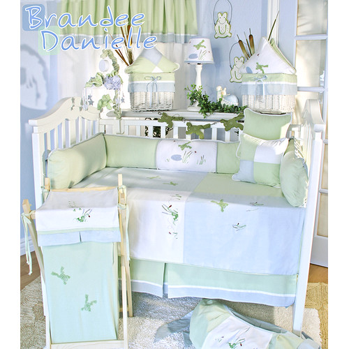 Brandee Danielle One Little Froggie 15 Piece Crib Bedding Set