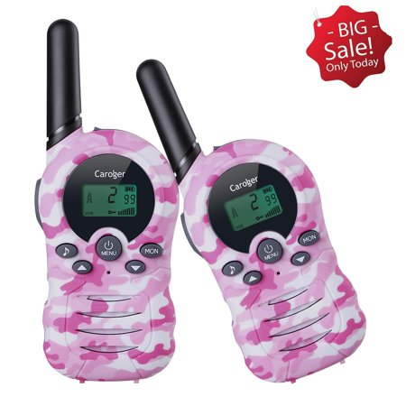 Caroger Walkie Talkies 2 Pack, Upgraded Version Camouflage Exterior 22 Channels 2 Way Radio Toy, 2 Miles Range for Kids, Outdoor Adventures, Camping, Hiking ()