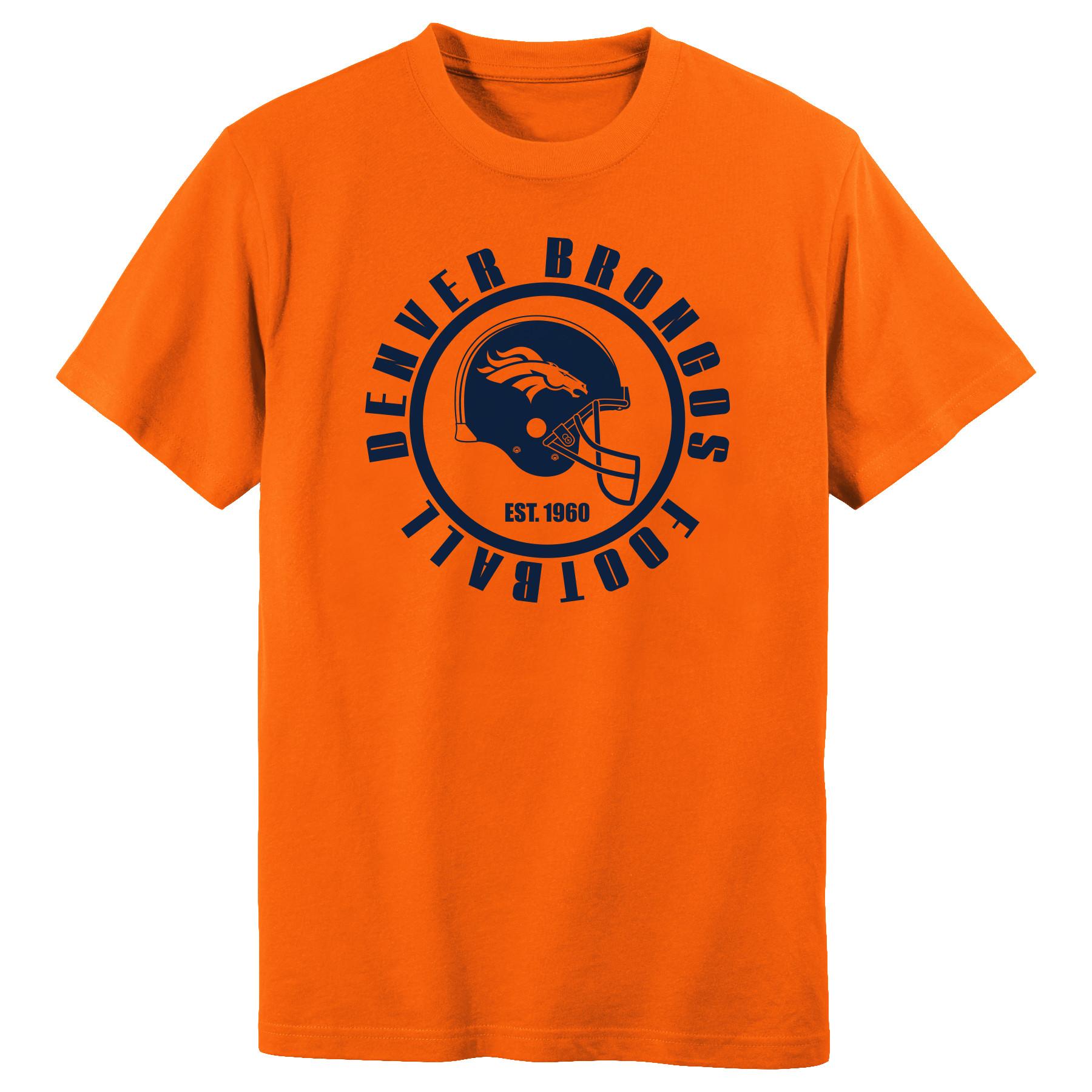 Youth Orange Denver Broncos Circle T-Shirt