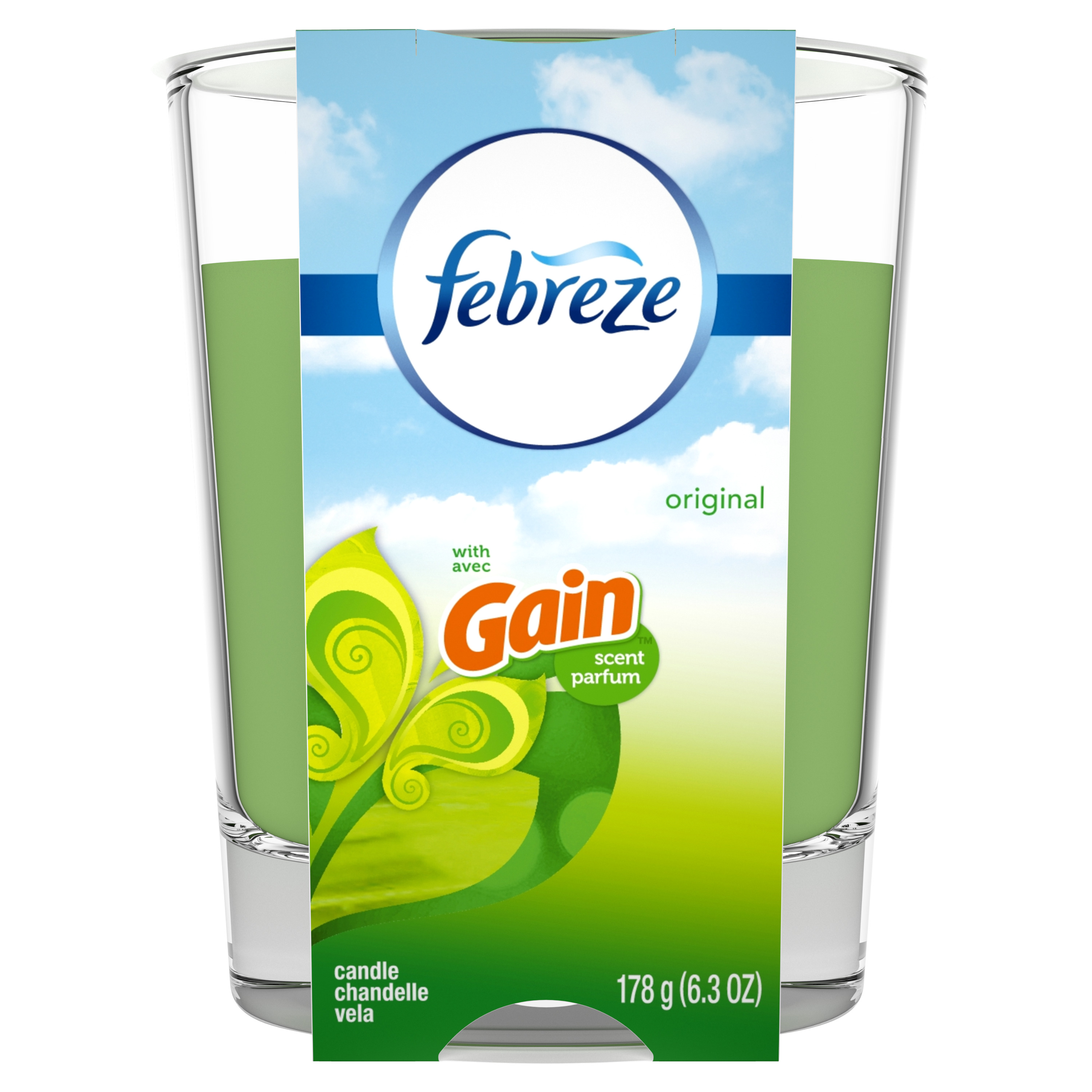 Febreze Candle with Gain Scent, Original, 6.3 oz