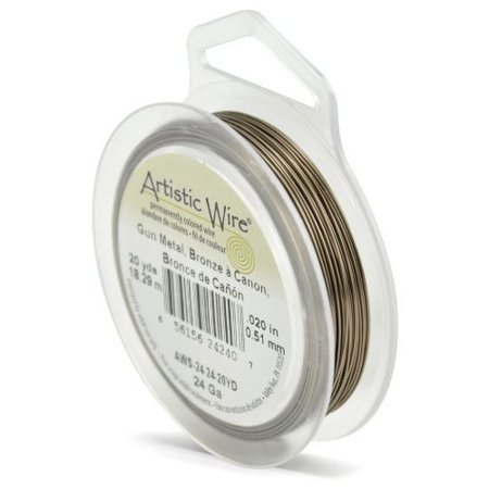 Artistic Wire 24-Gauge Antique Brass, - Brass Hobby Wire