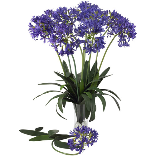 "29"" African Lily Stem, Purple, 12pc"