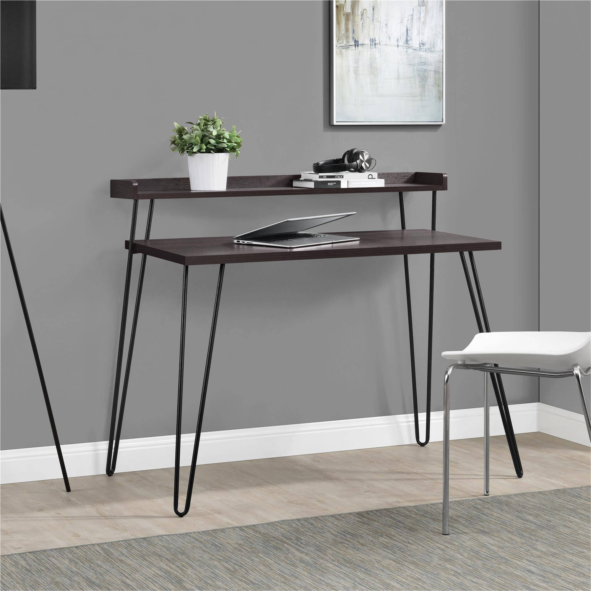 Ameriwood Home Haven Retro Desk with Riser, Multiple Colors