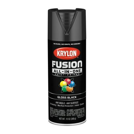 Krylon® Fusion All-In-One™ Gloss Black, 12-Oz