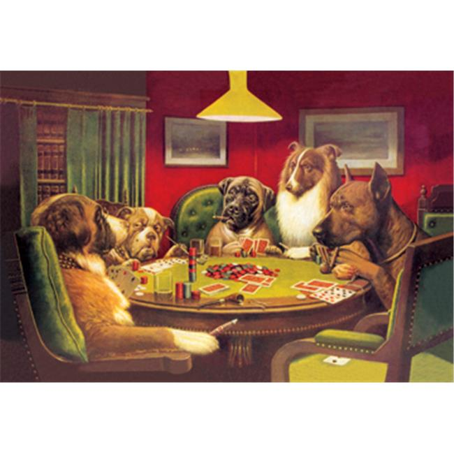 Buy Enlarge 0-587-00014-7P12x18 Dog Poker - Is the St.  Bernard Bluffing- Paper Size P12x18