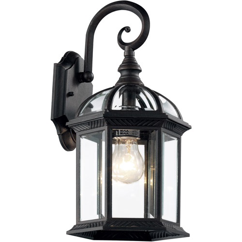 "BelAire Atrium 16"" Outdoor Coach Lantern, Black"