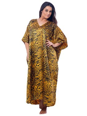 d4cf85d57ff5 Product Image Up2date Fashion's Women's Caftan / Kaftan, Gold and Black  Animal Print