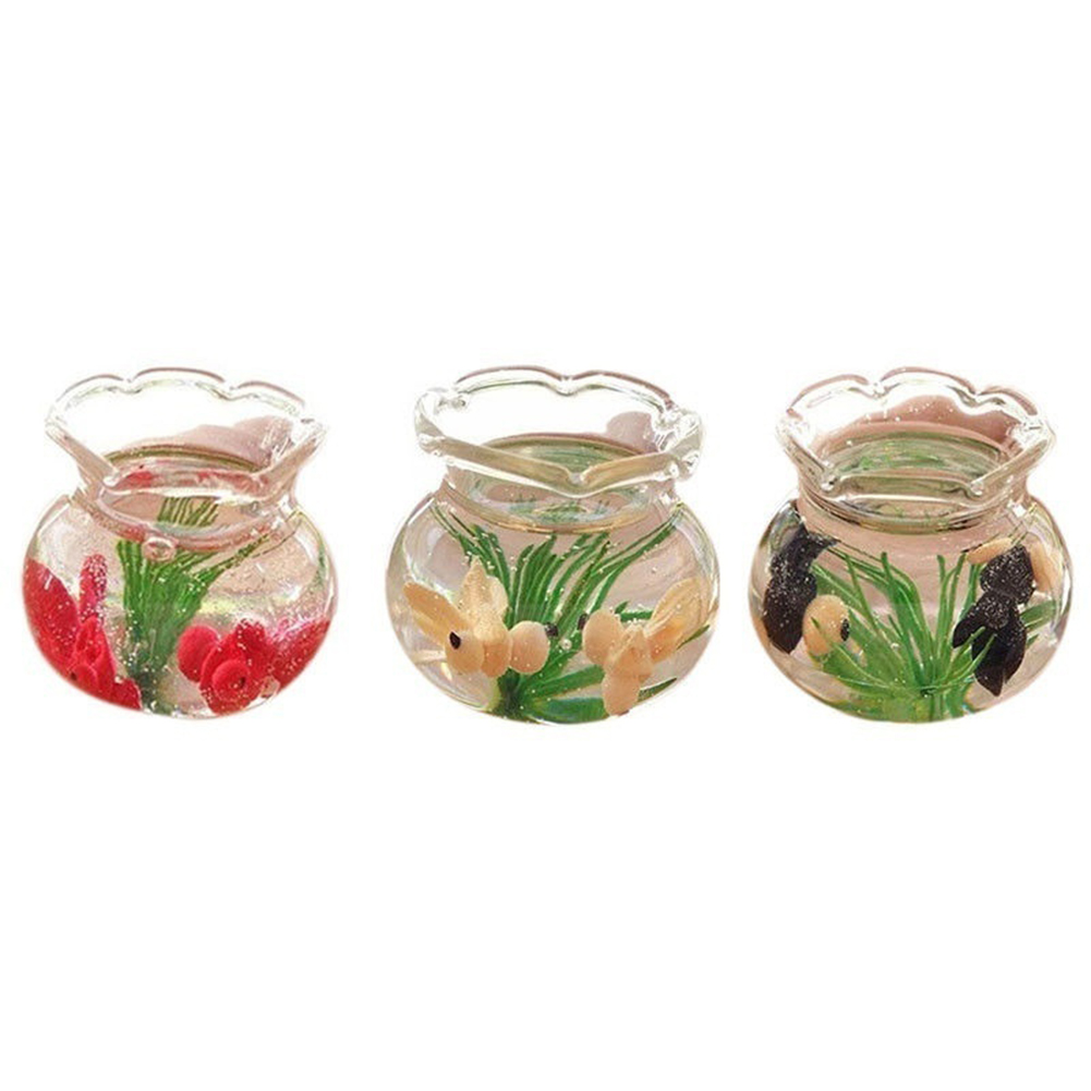 Obstce Mini Decoration Resin Miniature Fish Tank Accessory Toy for 1/6 1/12 Dollhouse