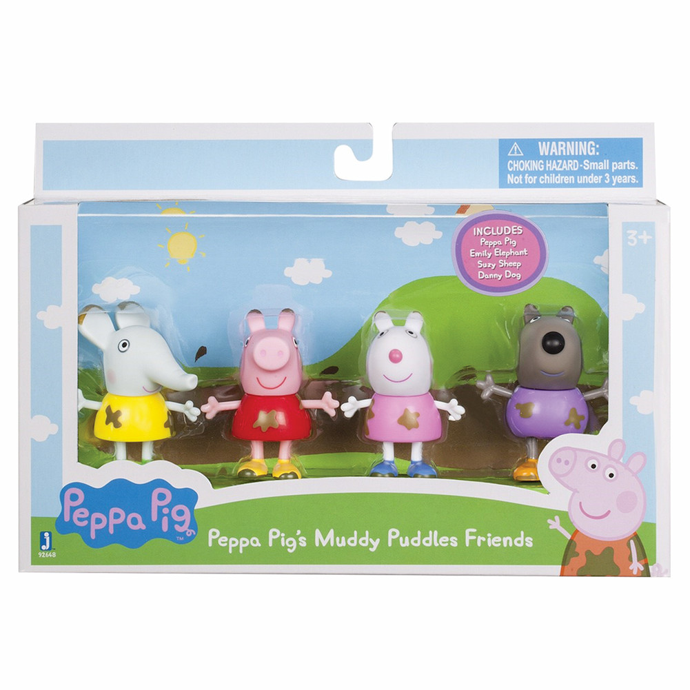 Peppa Pig Muddy Puddles Friends, 4 Pack