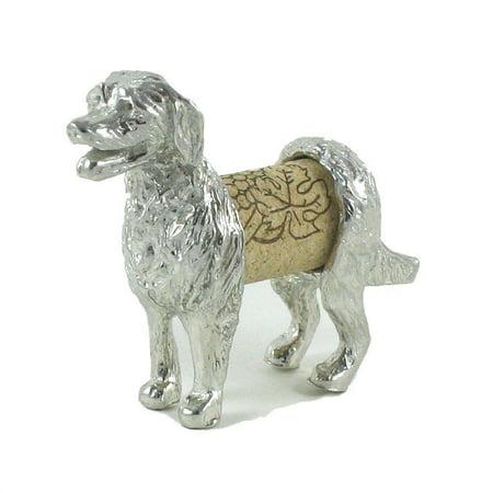 Lucina K Retreiver Dog Sculpture Wine Cork Display Saver Handcrafted Pewter