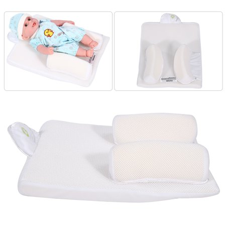 Dilwe Baby infant Newborn Sleep Positioner Anti Roll Pillow Prevent Flat Head Cushion Safe Support, Positioner Cushion, Sleep Positioner
