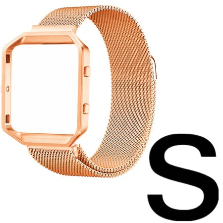 Moretek Replacement Watch Band For Fitbit Blaze Milanese (Small, Gold) (Swatch Gold Watch Band Small)