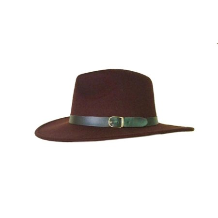 Aussie Wool Hat (Trilby Wool Felt Fedora Aussie Hat Deluxe Mens Costume Mobster Gangster)