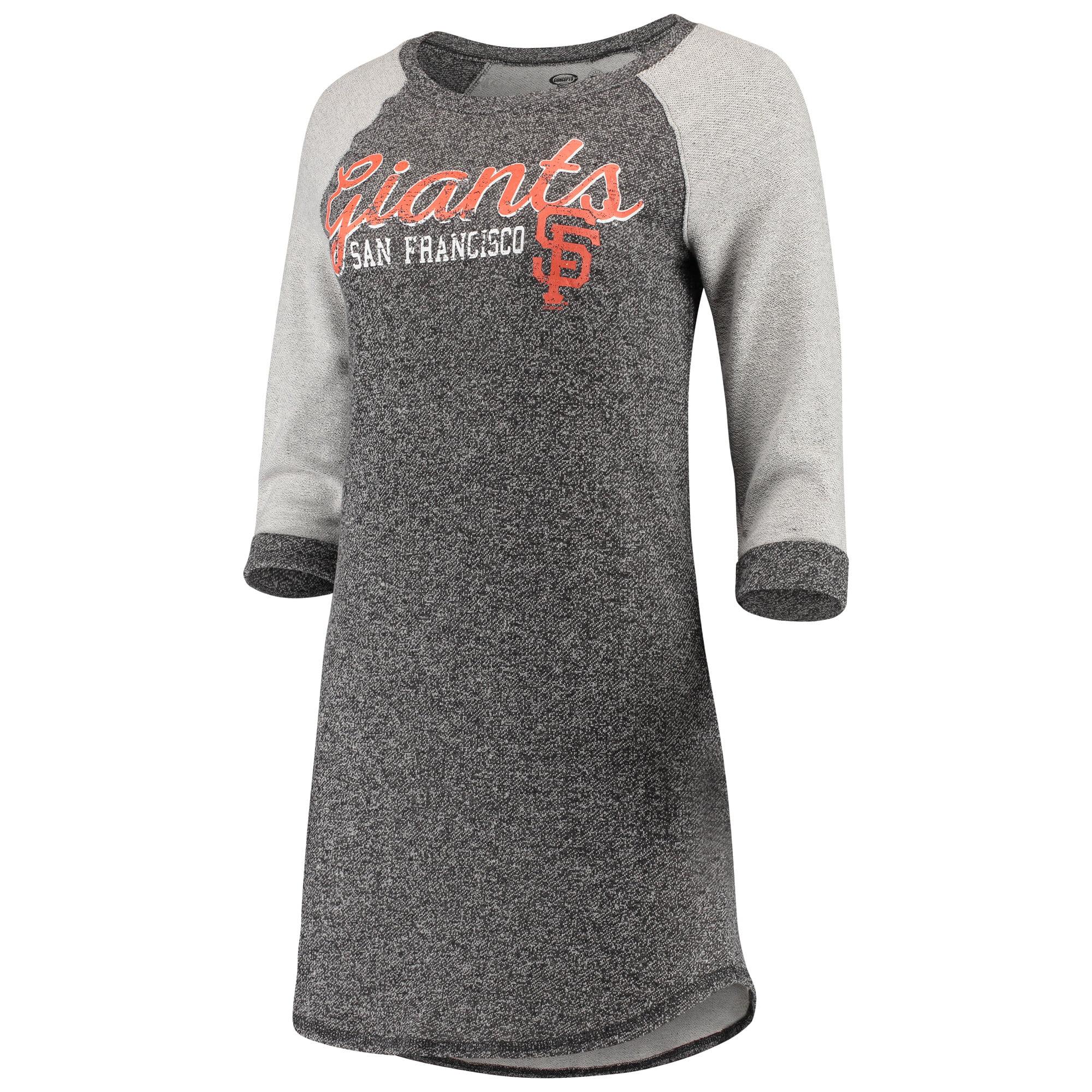 San Francisco Giants Concepts Sport Women's Walk-Off 3/4-Sleeve Nightshirt - Charcoal