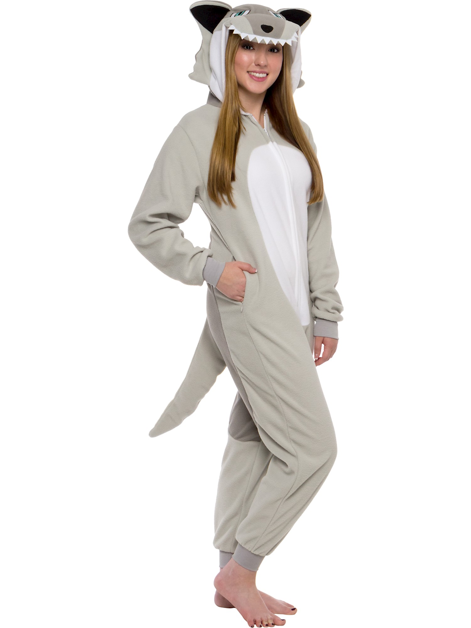 Adult One Piece Cosplay Koala Costume by Silver Lilly Slim Fit Animal Pajamas