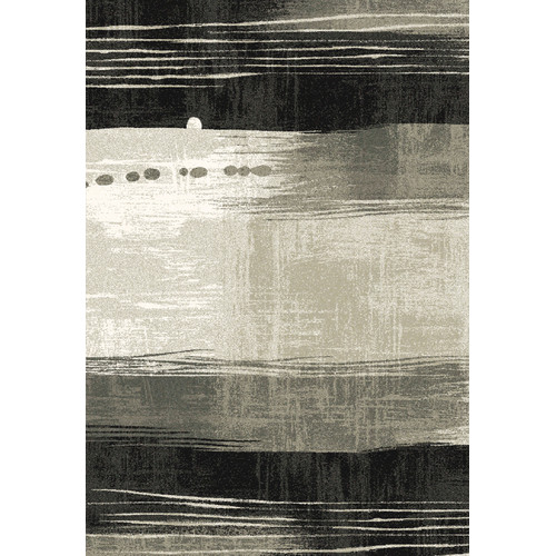 Crescent Drive Rug Company Infinity Silver/Black Area Rug