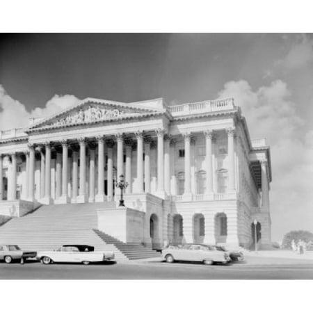 USA Washington DC US Senate Building Canvas Art - (18 x 24)