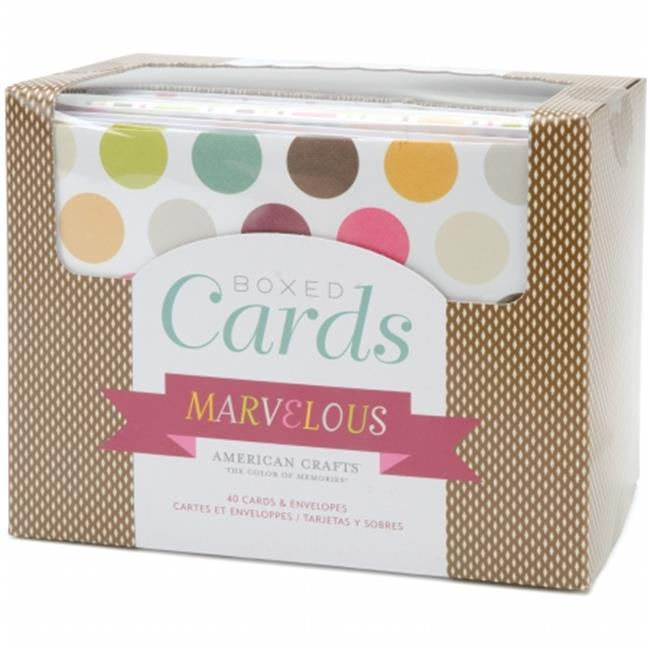 """American Crafts Marvelous Boxed Cards, 4"""" x 6"""", 40/pkg"""