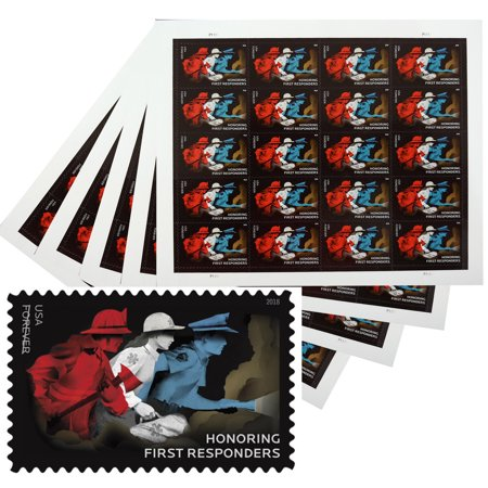 Honoring First Responders 5 Sheets of 20 Forever USPS First Class Postage  Stamps Hero Police Fire Fighter EMT Doctors Nurses (100 Stamps)