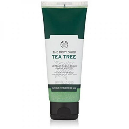The Body Shop Tea Tree Squeaky-Clean Exfoliating Face Scrub, 3.3 Fl Oz (The Body Shop Tea Tree Mattifying Face Lotion)
