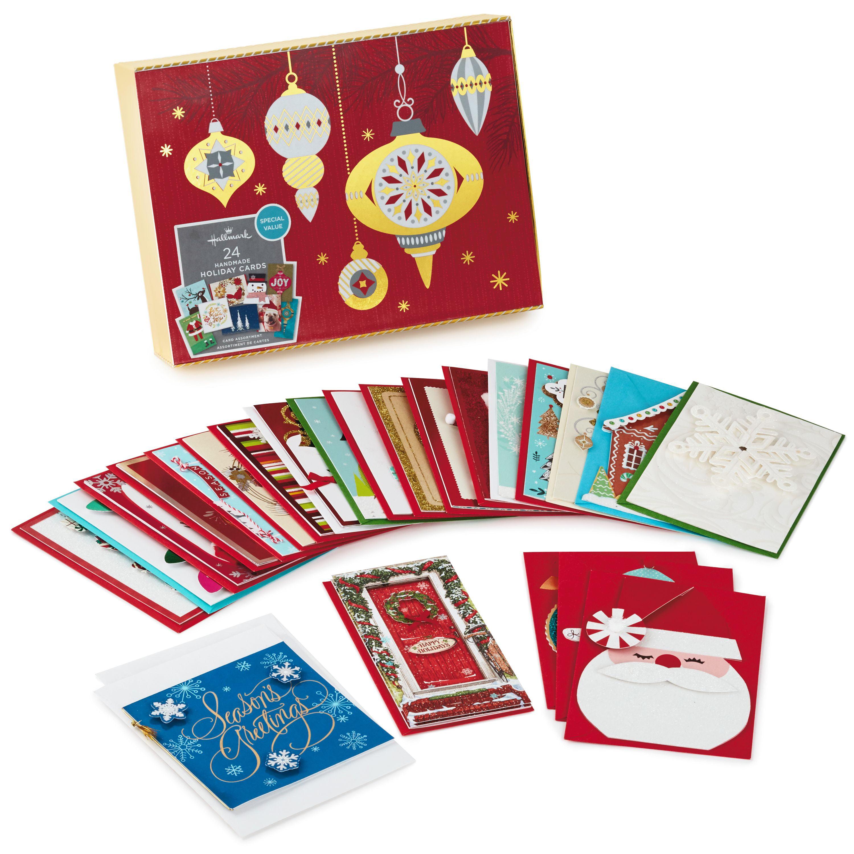 hallmark boxed handmade christmas card assortment 24