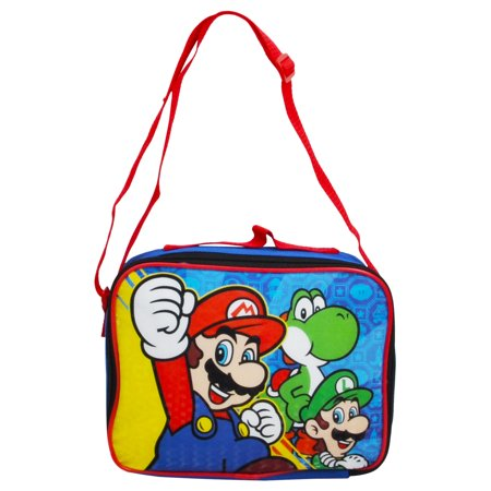 Boys Super Mario Bros Insulated Lunch Bag with Shoulder - Super Mario Gift Bags