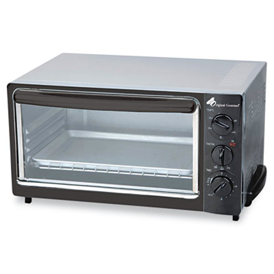 Multi-Function Toaster Oven with Multi-Use Pan, 15 x 10 x 8, Black/Stainless, Sold as 1