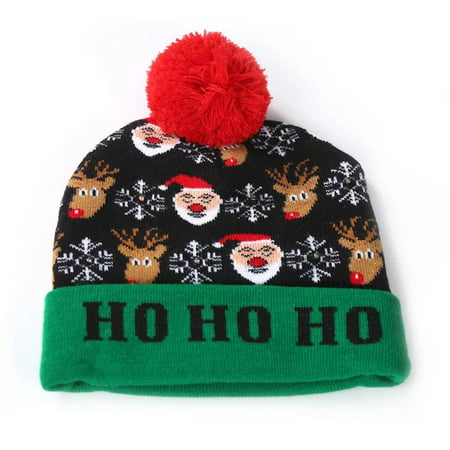 A Christmas Story Hat (LED Light up Hat Knitted Ugly Sweater Holiday Xmas Christmas Beanies Colorful Lights Flashing Hat Knit)