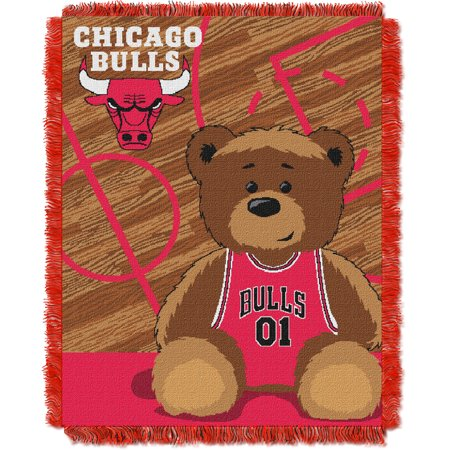 Chicago Bulls The Northwest Company 36'' x 46'' Baby Jaquard Throw - No - Chicago Bulls Store