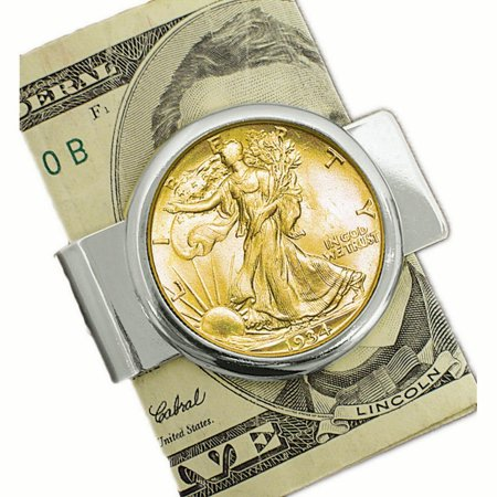 American Coin Treasures Walking Liberty Half Dollar Layered Money Clip