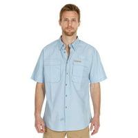 Men's Performance Fishing Shirt | Short Sleeve | Button Down | Vented | 100% Cotton