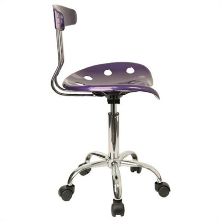 Scranton & Co Office Chair in Violet and Chrome - image 2 of 4