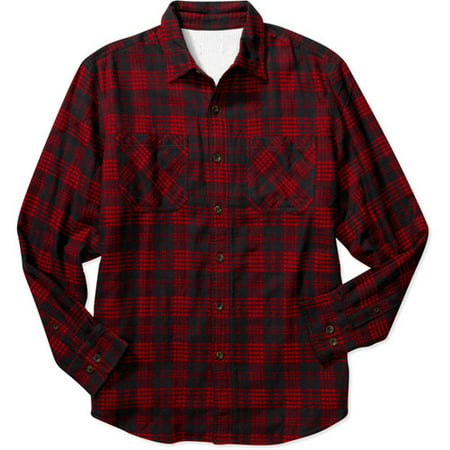 Faded glory men 39 s thermal lined flannel shirt for Mens insulated flannel shirts