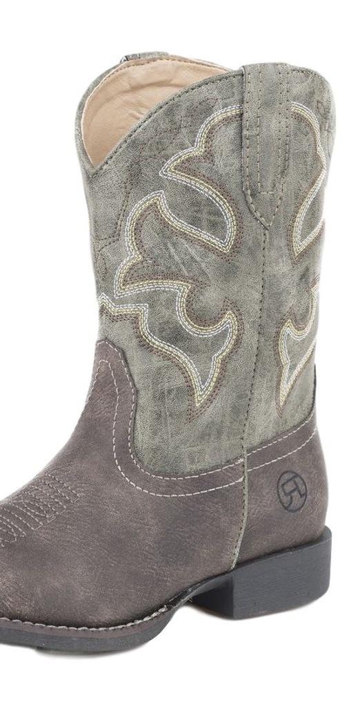 "Roper Western Boots Girls Stitching 6"" Shaft Brown 09-018-1222-1228 BR"