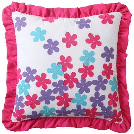 VCNY casa Amanda multicolor apliques florales decorativos niños Throw Pillow + VCNY en Veo y Compro