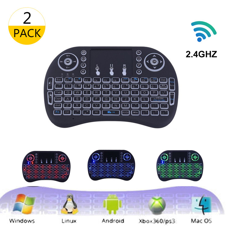 2.4GHz Mini Wireless Keyboard with Touchpad Mouse 3 Color...