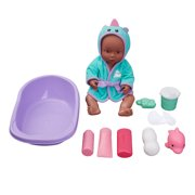 Kid Connection 12-Piece Bathing Baby Doll Play Set, African American
