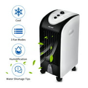 ELECWISH Portable Cooling Fan Evaporative Air Cooler with 3 Speeds 7 Timer Tower Fan Conditioner Cooling Humidifier Filter Low Noise with 4 L Water Tank