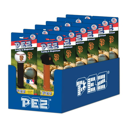 e7ea940c PEZ Candy MLB: San Francisco Giants, candy dispenser with 3 rolls of  assorted fruit candy, box of 12