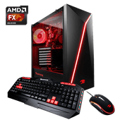 iBUYPOWER Raven Gamer WA005A Gaming Desktop PC with AMD FX-8320 Processor, 8GB Memory, 2TB Hard Drive and Windows 10 Home (Monitor Not Included) - WA005A