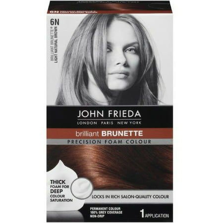 John Frieda Precision Foam Colour Brilliant Brunette (Light Natural Brown) 6N 1 Each