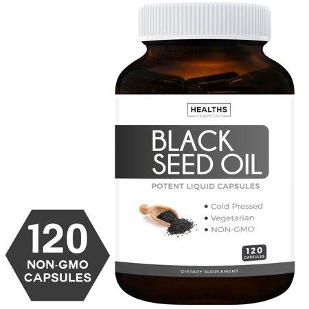 - Healths Harmony Black Seed Oil, 500mg Softgel Capsules, 120 Ct