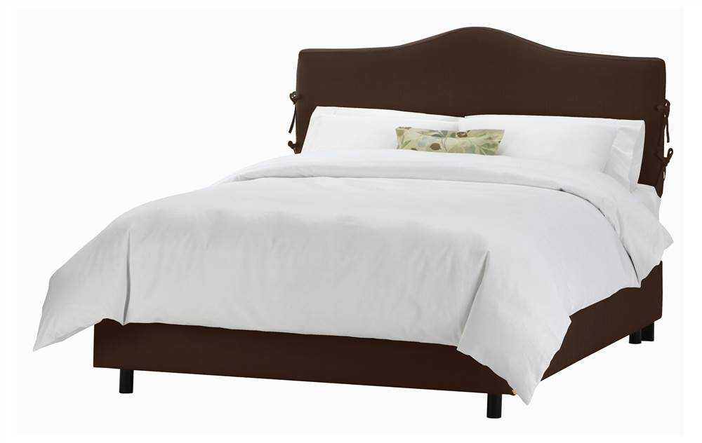 51 in. Slipcover Bed w Foam Padding in Chocolate (Twin) by Skyline Furniture