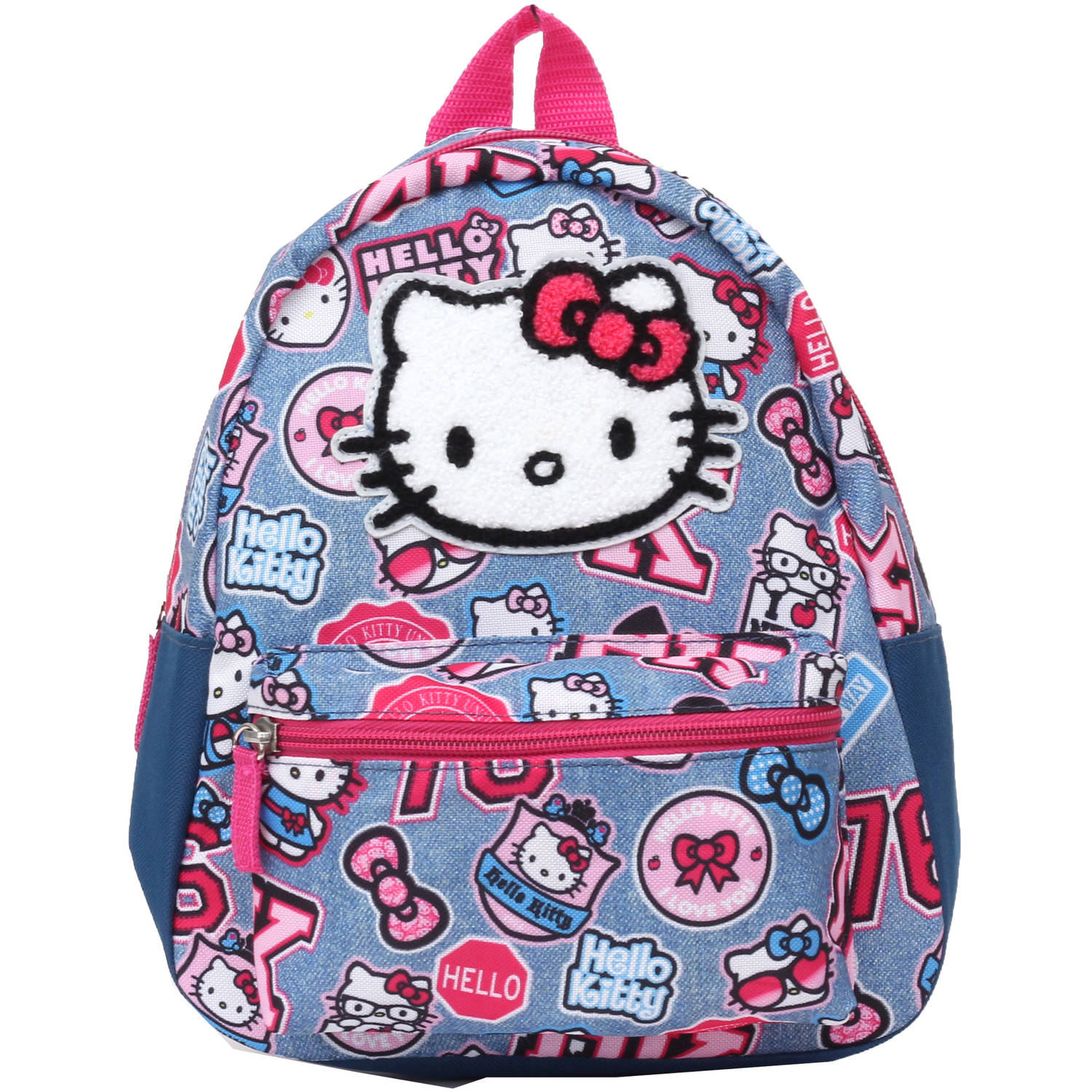 Hello Kitty Denim Patch Mini Backpack