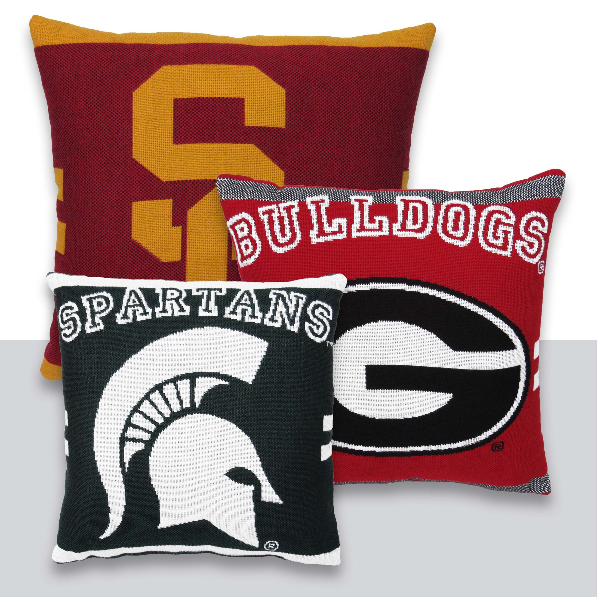 "NCAA University of Louisville 20"" Square Decorative Woven Pillow by The Northwest Company"